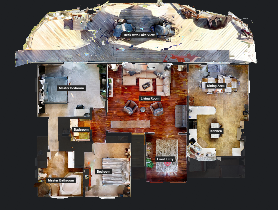 Floor Plan for 5 Bedroom Commanding Main Channel View Lakefront House